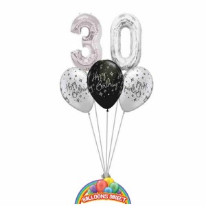 30th birthday balloon bouquet from balloonsdirect.ie