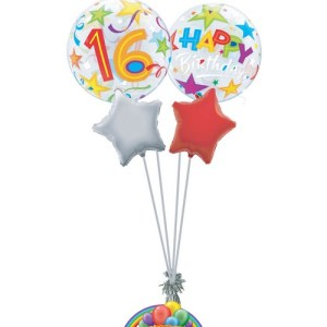 16th birthday generic balloon bouquet from balloonsdirect.ie