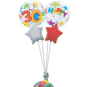 30th birthday generic balloon bouquet from balloonsdirect.ie