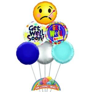 get well soon deluxe balloon bouquet