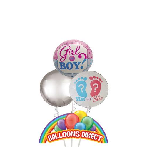 gender reveal standard balloon bouquet