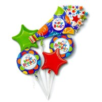Birthday Fever Horn Mylar Balloon Bouquet from Balloon Shop NYC