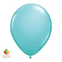 Caribbean Blue Latex Party Balloon 12 inch Inflated delivery from Balloon Shop NYC