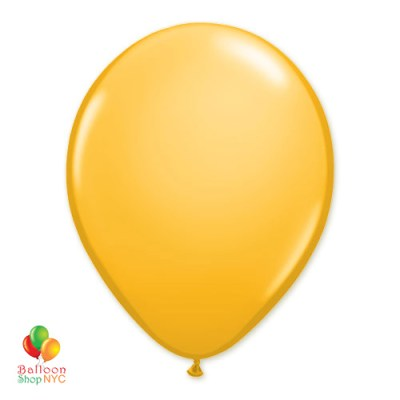 Goldenrod Latex Party Balloon 12 inch Inflated delivery Blloon Shop NYC