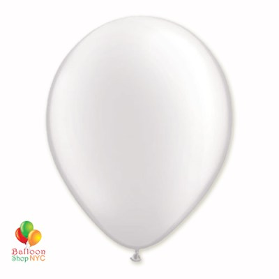 White Pearl Latex Party Balloon 12 inch Inflated delivery Balloon Shop NYC