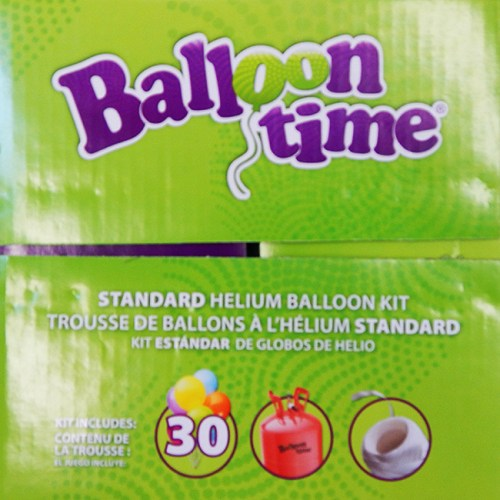 Helium Disposable Tank and Latex Balloons Kit Small from Balloon Shop NYC