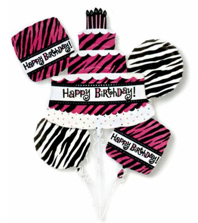 Or So Fabulous Birthday Mylar Balloon Bouquet from Balloon Shop NYC