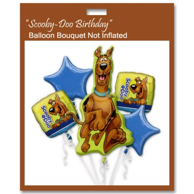 Scooby Doo Close Up Balloon Bouquet Not Inflated from Balloon Shop NYC