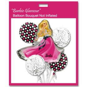 Barbie Glamour Balloon Bouquet Not Inflated from Balloon Shop NYC