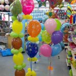 Bright Colors and Printed Latex Party Balloon Bouquets