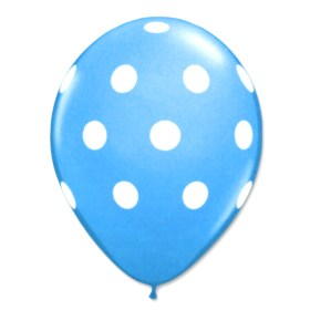 Caribbean Latex Party Balloons Polka Dot 12 inch from Balloon Shop NYC