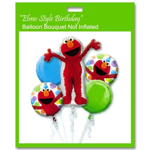 Elmo Style Birthday Balloon Bouquet from Balloon Shop NYC