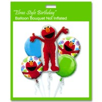 Elmo Style Birthday Balloon Bouquet from Balloon Shop NYC