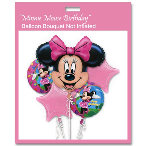 Minnie Mouse Birthday Balloon Bouquet Not Inflated from Balloon Shop NYC