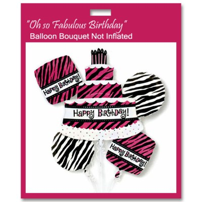Oh So Fabulous Birthday Balloon Bouquet Not Inflated from Balloons Shop NYC