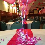 Pink Party Theme Table Balloons Center Pieces