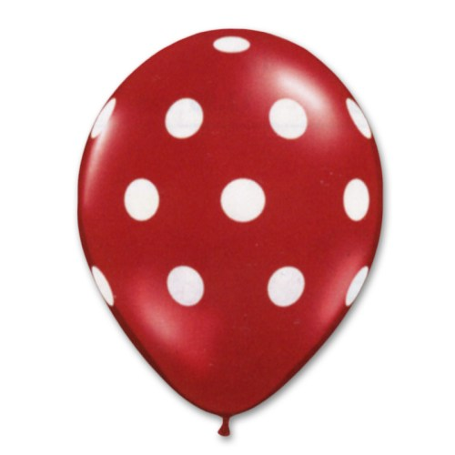 Red Latex Party Balloons Polka Dot 12 inch from Balloon Shop NYC