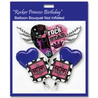 Rocker Princess Birthday Balloon Bouquet Not Inflated from Balloon Shop NYC