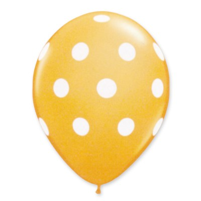 Yellow Latex Party Balloons Polka Dot 12 inch from Balloon Shop NYC