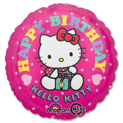Hello Kitty Birthday Mylar Balloon from Balloon Shop NYC
