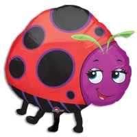 Miss Ladybug Foil Balloon from Balloon Shop NYC