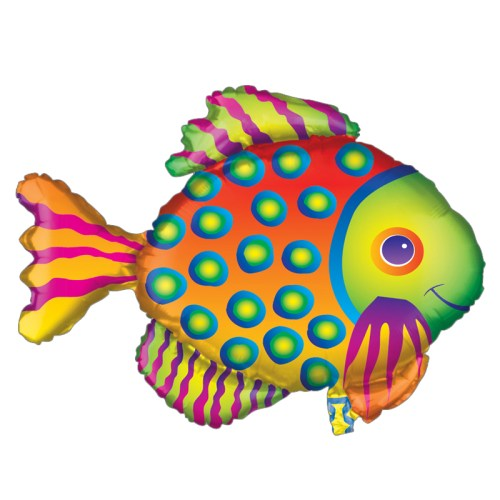Tropical Fish Foil Balloon from Balloon Shop NYC
