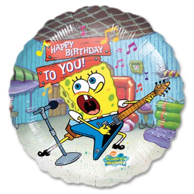 Spongebob Group Happy Birthday Mylar Balloon from Balloon Shop NYC