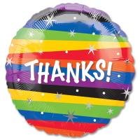Thanks Stripes Mylar Party Balloon from Balloons Shop NYC