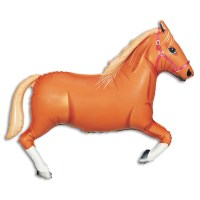 Tan Horse Foil Balloon from Balloon Shop NYC