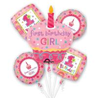 Sweet Little Cupcake Girls First Birthday Balloon Bouquet from Balloons Shop NYC