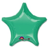 Wintergreen Star Solid Color Foil Party Balloon 19 inch from Balloon Shop NYC