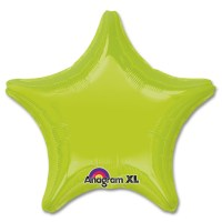 Kiwi Green Star Solid Color Foil Party Balloon 19 inch from Balloon Shop NYC