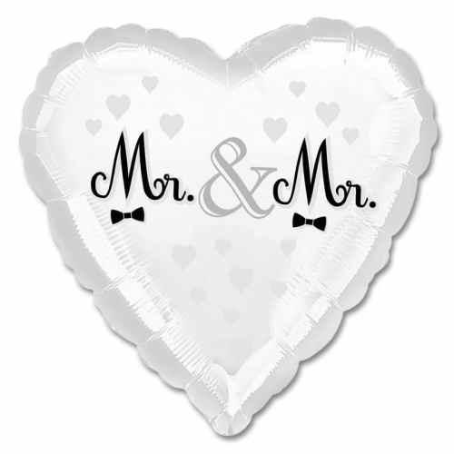 Mr & Mr Wedding Heart Balloon from Balloons Shop NYC