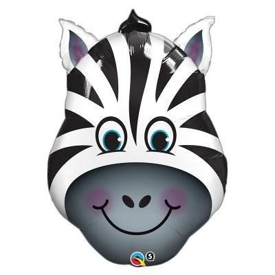 Smiling Zebra Foil Mylar Balloon from Balloon Shop NYC