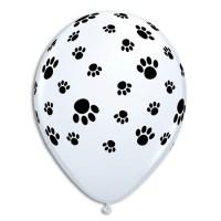 Paw Prints Printed Latex Balloon from Balloon Shop NYC