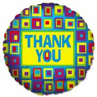 Thank You Squares Mylar Balloon from Balloons Shop NYC