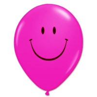 Smile Face Wild Berry Latex 12 inch Party Balloon from Balloon Shop NYC