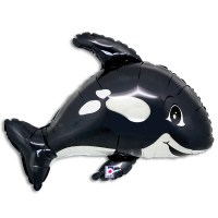 Black Whale Foil Balloon from Balloon Shop NYC