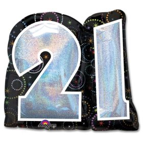 A Time To Party 21 Birthday 27 inch Party Balloon from Balloons Shop NYC