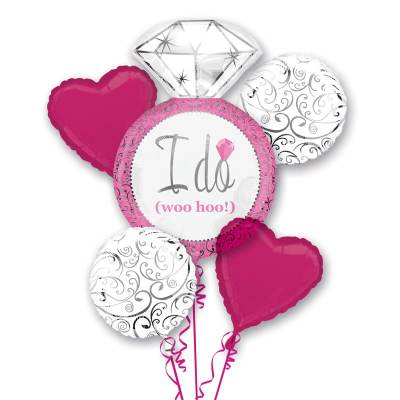 I Do Pink Wedding Mylar Balloon Bouquet from Balloons Shop NYC