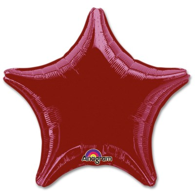 Berry Star Solid Color Foil Party Balloon 19 inch from Balloon Shop NYC