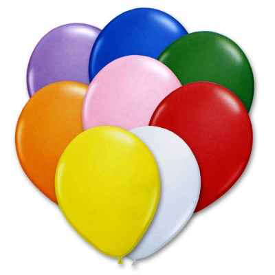Bright Assorted Colors 12 inch Latex Balloons Bouquet high-quality cheap balloons nyc delivery