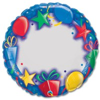 Blank 36 inch Personalized Macrofoil Balloon from Balloon Shop NYC
