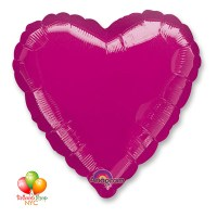 Fuchsia Heart Mylar Balloon 18Fuchsia Heart Mylar Balloon 18 Inch Inflated Delivery in New York from Balloon Shop NYC