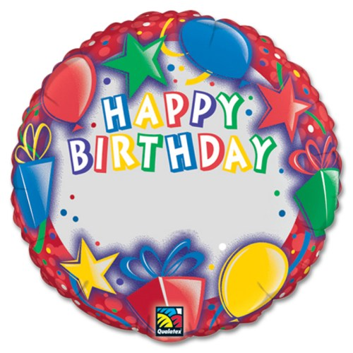 Happy Birthday Stars Personalized Microfoil Balloon from Balloon Shop NYC