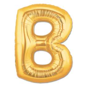 Jumbo Foil Gold 40 inch Letter B Balloon from Balloons Shop NYC