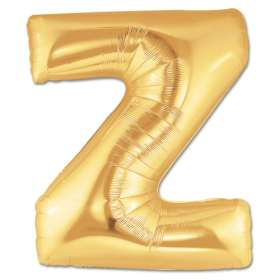 Jumbo Foil Gold 40 inch Letter Z Balloon from Balloons Shop NYC