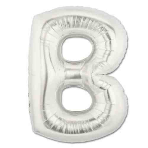 Large Silver Mylar Letter Balloon 40 Inch Letter B from Balloons Shop NYC