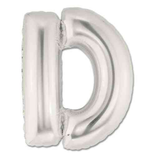 Large Silver Mylar Letter Balloon 40 Inch Letter D from Balloons Shop NYC