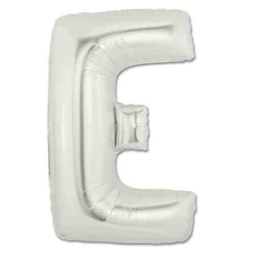 Large Silver Mylar Letter Balloon 40 Inch Letter E from Balloons Shop NYC